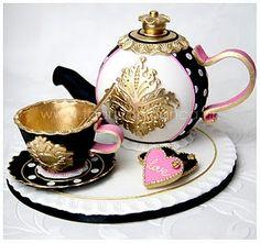 Black & Gold tea set