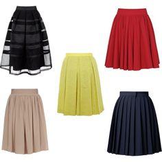 юбки, которые визуально придают объем