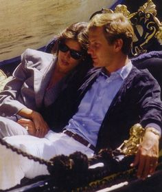 .Princess Caroline of Monaco and her husband Stefano Casiraghi enjoy a gondola ride in Venice