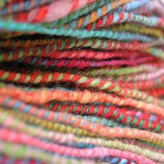 colorful barber pole wool