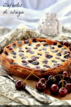 My Recipes, Dessert Recipes, Desserts, Cherry Clafoutis, Recipe Of The Day, Tiramisu, Tart, Food And Drink, Sweets