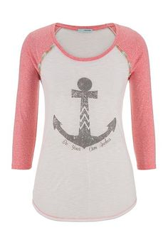 be your own anchor graphic print baseball sleeve tee (original price, $29) available at #Maurices