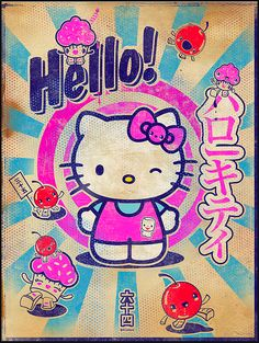 Hello Kitty Art | 64 Colors | Three Apples Exhibit