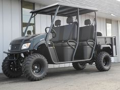 Our latest Crew Cab LMC4 Landmaster is equipped with the black body, extended diamond plate hard top, and steel dump bed with integrated rear flip seat, giving this vehicle 4WD capability and seating capacity for 6 adults! In stock now for $8990. #AmericanSportWorks #Landmaster #LMC4 #CrewCab #4wd #4x4 #sidebyside #UTV