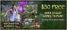 $30 Free - Play Enchanted Garden Slots - BingoLiner Enchanted Garden, Online Casino, Bingo, Games To Play, Slot, Entertaining, World, Cards, Free