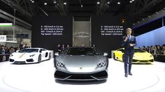 Stephan Winkelmann Unveils The Lamborghini Huracan LP 610-4 Coupé 2014 at Shanghai. More Images On The Following Link: https://www.carspecwall.com/lamborghini/huracan/huracan-lp-610-4-coupe-2014/
