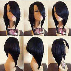 Cheap Wigs, Buy Directly from China Suppliers: brazilian virgin human hair cheap full lace short bob wig gluele Chinese Bob Hairstyles, Dope Hairstyles, Black Girls Hairstyles, Weave Hairstyles, Remy Hair, Hair Dos, Natural Hair Styles, Short Hair Styles, Bob Styles