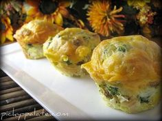 Broccoli Cheddar and Sausage Egg Muffin Pull-A-Parts