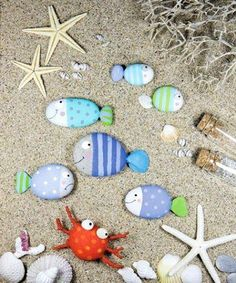 Photo : ☼ ✄ #DIY Bricolage Enfants Eté / DIY Painted Pebbles ✄ ☼  www.creamalice.com