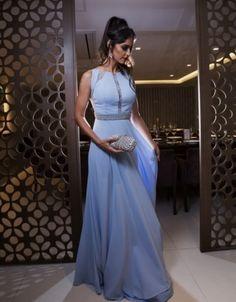2a290a2b2d5 VESTIDO DE FESTA PARA CASAMENTO EVANGÉLICO Vestido De Festa Azul