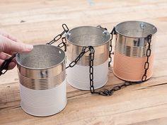 Tutoriales DIY: Cómo hacer un macetero colgante con latas de conserva vía DaWanda.com