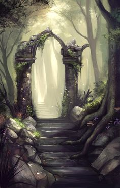 This place felt so real, she could even smell the moss on wet stone and hear the flitter of insects as they gently bounced along the dew sprinkled grass.