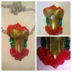 #belle #craftsbydr #beautyandthebeast #rose #pendant #myart #smallshop