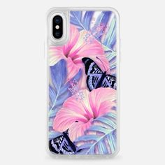 Clear Butterfly Aloha - Classic Grip Case