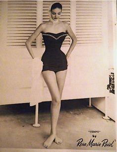 Rose Marie Reid swimsuit advertisement, 1950s