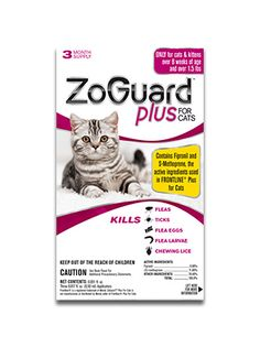 PetPlus Price: $3 ZoGuard Plus for Cats - Flea & Tick Medication | PetPlus