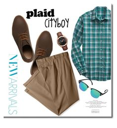 """Plaid for Boys"" by adduncan ❤ liked on Polyvore featuring Lacoste, Gap, Izod, Michael Kors, Uniqlo, men's fashion, menswear, plaid and WardrobeStaples"