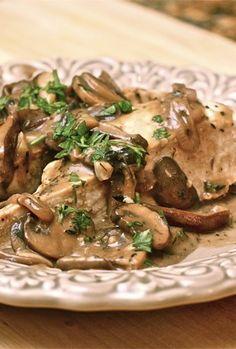 Chicken with Wild Mushrooms and Balsamic Cream Sauce