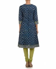 Navy Blue Anarkali Suit with Floral Embroidery