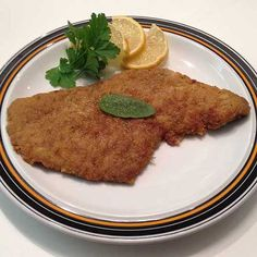 Breaded cutlet.
