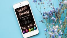 Sparkling Birthday Invitation.  Any Design Wishes, Contact us.