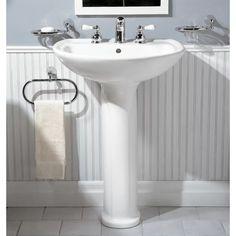Pedastal Sink, Pedestal Sink Bathroom, Modern Bathroom, Small Bathroom, Master Bathrooms, Downstairs Bathroom, Bathroom Beadboard, Country Bathrooms, White Bathrooms