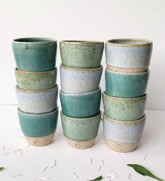 stoneware, handmade & unique Coffee Tumbler, Espresso Coffee, Stoneware, Planter Pots, Ceramics, Unique Jewelry, Handmade Gifts, Etsy, Vintage