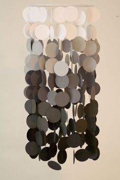 Gray Ombre Paper Crib Mobile by FourGlitteredGeese on Etsy, $38.00