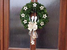 Vánoční věnec na dveře s andělíčky. Angels Wreath