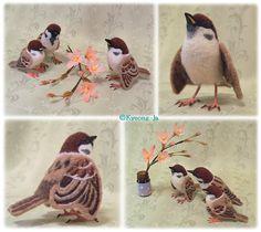 イメージ2 - スズメのヒナっ子と桜☆羊毛フェルト作品の画像 - ★Design Koubou KEKOSU-2★ - Yahoo!ブログ