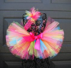 Cute color combination ideas and measurements for tutus.