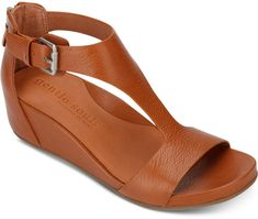 Gentle Souls by Kenneth Cole Women Gisele Wedge Sandals Women Shoes - FootWear Cute Shoes, Me Too Shoes, Shoe Boots, Shoes Sandals, Beach Sandals, Leather Sandals, Shoes Sneakers, Brown Wedge Sandals, Wedge Heels