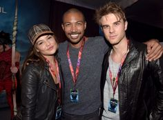 Nathaniel Buzolic with Charles Michael Davis & Danielle Campbell at the Premiere of Cirque Du Soleil's Amaluna ~ October 4, 2014