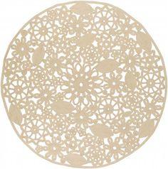 Sanibel Gold Light Gray Polyester Fabric Area Rug (L 96 X W 96)