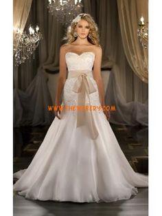 Principessa Sweetheart applique organza abito da sposa con fusciacca champagne 2013