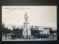 REGGIO CALABRIA PRIMA DEL TERREMOTO MONUMENTO A GARIBALDI - 1443 Reggio Calabria, Statue Of Liberty, Louvre, Building, Travel, Ebay, Statue Of Liberty Facts, Viajes, Statue Of Libery