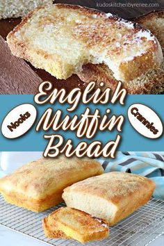English muffin bread is everything you love about English muffins but in loaf form. This easy and delicious bread will soon become a breakfast staple! #yeastbread #englishmuffins #englishmuffinbread #breakfastbread #breakfast #brunch #kudoskitchenrecipes English Muffin Bread, Homemade English Muffins, Waffle Recipes, Banana Bread Recipes, Yummy Recipes, Recipies, Traditional Bread Recipe, Honey Bread, Best Bread Recipe