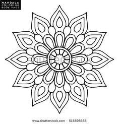 Orientalisches Muster, Vektorillustrati … – DIY and crafts - Malvorlagen Mandala Mandala Design, Mandala Dots, Mandala Pattern, Mosaic Patterns, Embroidery Patterns, Mandala Art Lesson, Mandala Drawing, Mandala Coloring Pages, Coloring Book Pages
