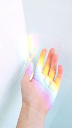rainbow, hand, and header image