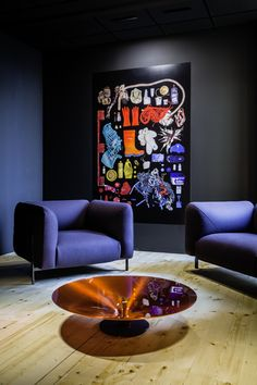 sofa expo vip contemporary convertible sandrine fanchette sandrinefanchet on pinterest roche bobois area furnished with lobby sofas by cedric ragot and ovni coffee table