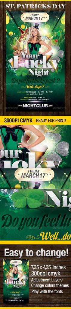 Do you feel Lucky? Party Flyer