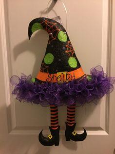 Burlap Witches Hat Door Hanger