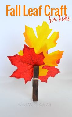 Hand Made Kids Art: Easy Fall Crafts for Kids. This is simple, easy, budget friendly and beautiful...my kind of craft!
