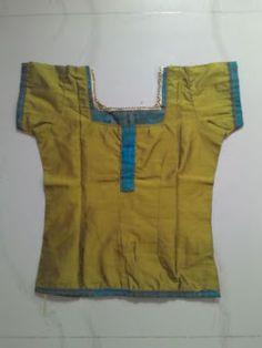 Creative of  rainy  ....: girl's top ...pattu pavadai sattai ....stitching t...