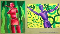 A little while back I posted a successful middle school lesson   I did using oil pastels and wood figures.   The high school art te...