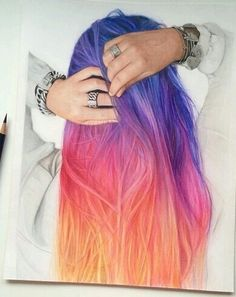 Colorful Hair in Wonderland — ☺ on We Heart It -...