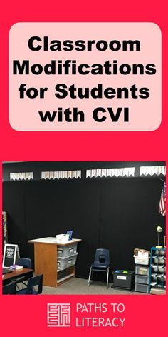 Environmental modifications in the classroom can help students with cortical visual impairment (CVI) to function more independently. Many of these modifications could benefit other students as well, by reducing visual clutter and complexity. Learning Support, Visual Learning, Learning Activities, Classroom Environment, Classroom Themes, Visually Impaired Activities, Special Needs Teaching, Student Teaching, Teaching Tips