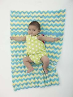 """Stroller Blankie In new yarn by Lion Brand called """"Ice Cream"""" Love the even way it appears to stripe."""