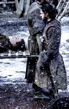 "Jon mourning Rickon. (6x9) ""We're going to bury my brother in the crypt, next to my father."""