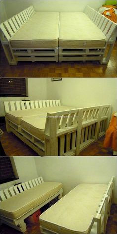 Pallet Projects - Creative Ideas for Wooden Pallets Recylcing, Reusing , Repurposing for Making Pallet Furniture And Crafts. Making Pallet Furniture, Wood Pallet Beds, Pallet Couch, Wood Sofa, Reclaimed Wood Furniture, Recycled Furniture, Wooden Pallets, Cool Furniture, Furniture Chairs